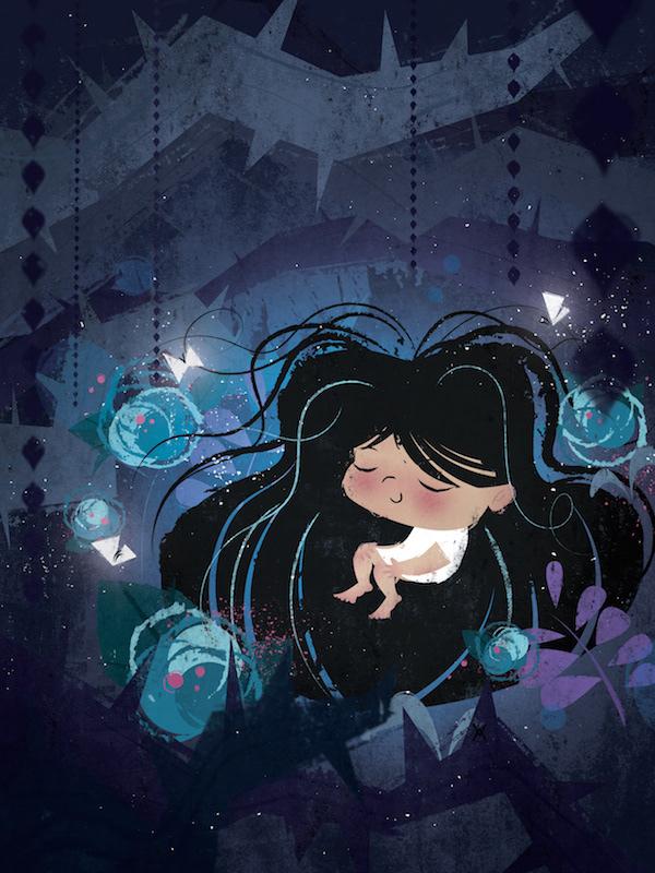 pretty Nature concept art children's book cartoon design Character design  VisDev blue hair