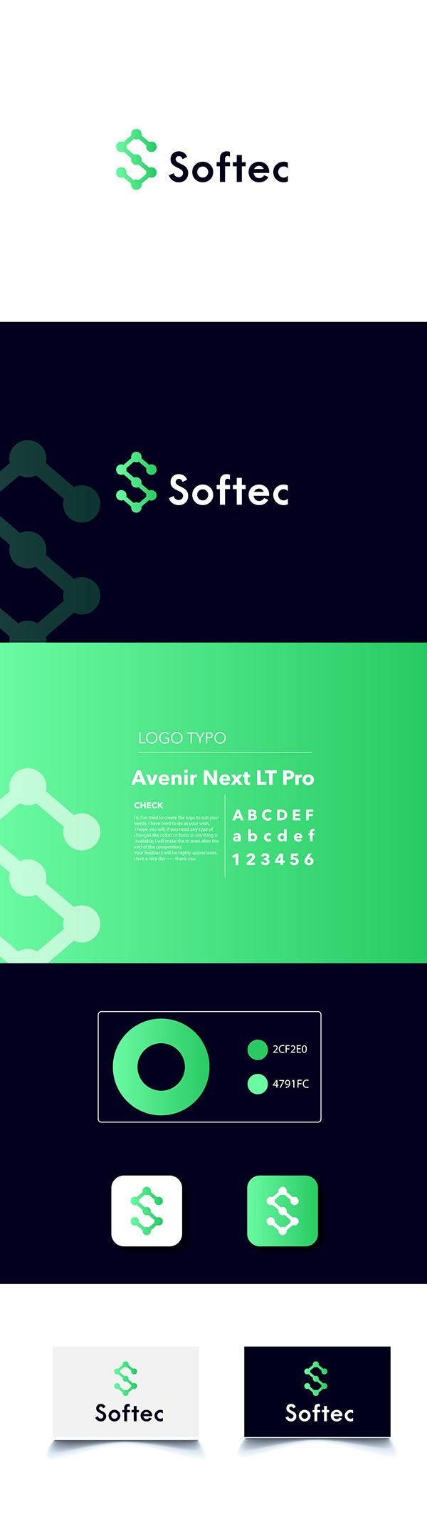 s letter tech logo design