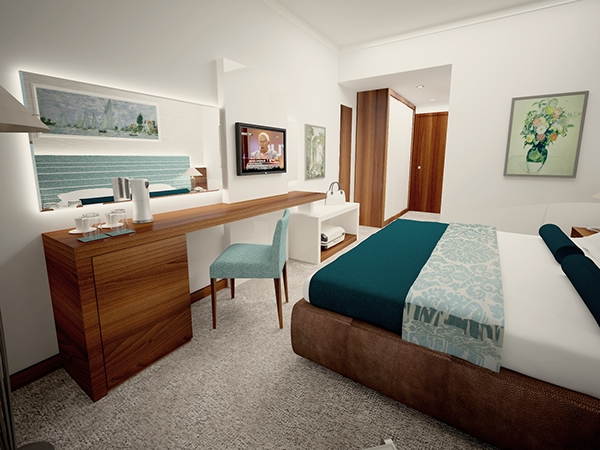 Simple hotel room design on behance for Hotel bedroom design