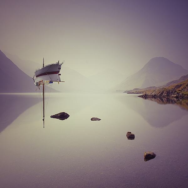 photomanipulation person personality crowd cover imagination people Character boat ship water sea lake calm mountains