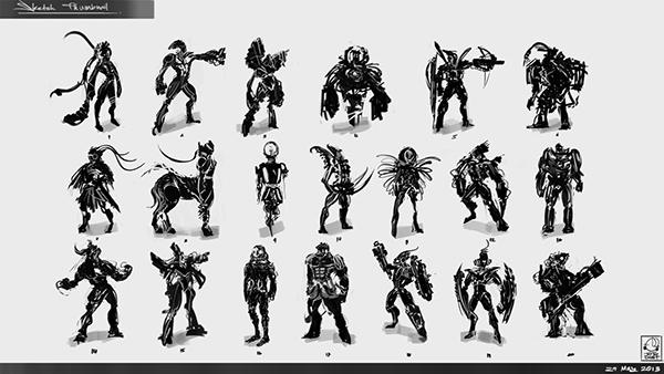 Character Design Thumbnails : Thumbnail character design on behance