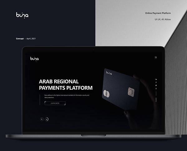 Buna - Web Design - Online Payment Platform