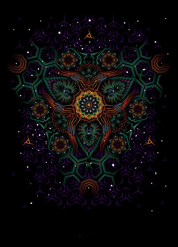 shape Space  fractal water waves monks sri yantra Planets meditation owl Ramp