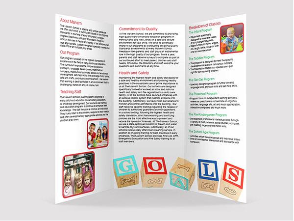child care daycare design brochure school children child kids