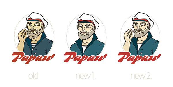 papaw  imago  logo fisher portrait  logotype byo fish