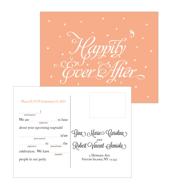 Happily Ever After Wedding Invitations on Behance  Happily Ever Af...