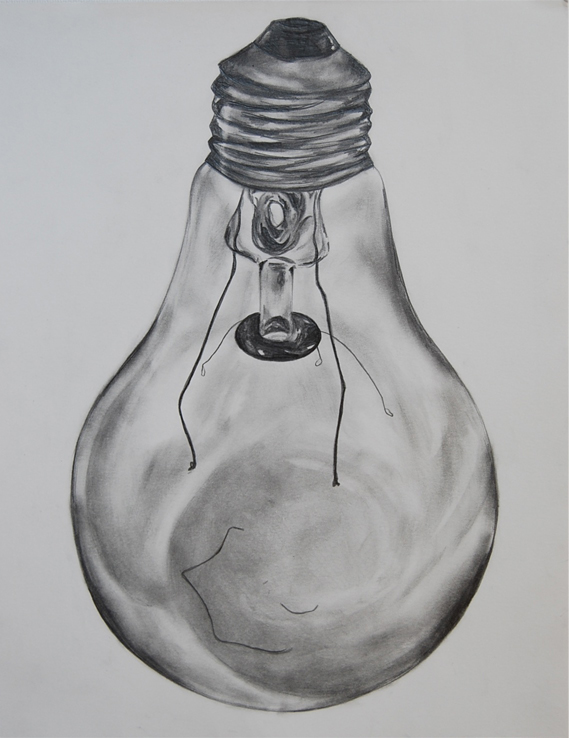 D Line Drawings Value : Ap studio art concentration incandescent light bulbs on