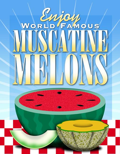 muscatine melon watermelon country cateloupe iowa rural restaurant