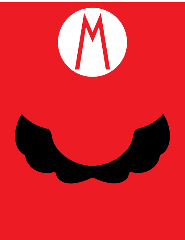 Mario minimalist poster on behance for Minimalist art characteristics