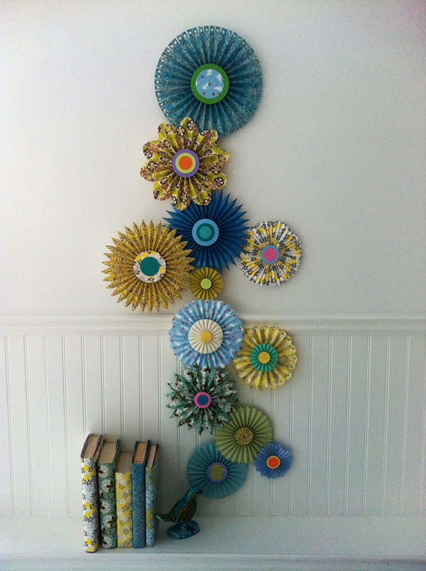 This is a paper rosette/medallion wall-hanging that I made for the April 2012 issue of Better Homes u0026 Gardens US. The entertaining story was styled by Paul ... & Spring Medallion Wall Hanging - Better Homes u0026 Gardens on Behance