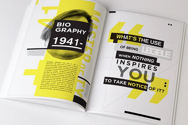 Style clean swiss SCAD art design vintage historical detail graphics Computer magazine