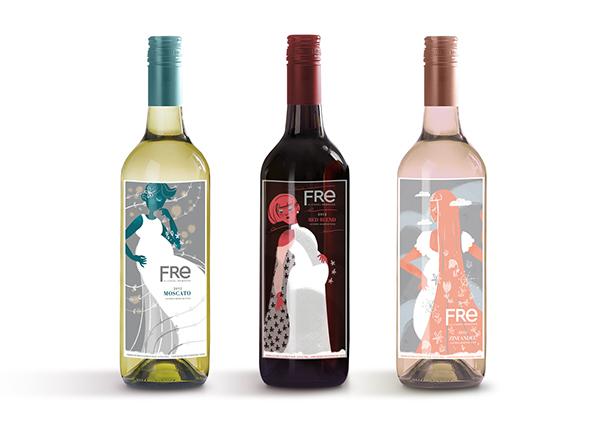 fre wine label design on scad portfolios