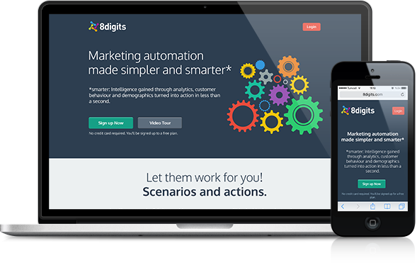 8Digits  web design flat design web app automation