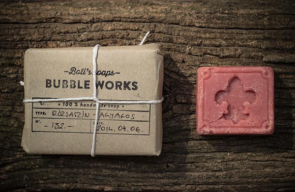 stamp soap handmade natural brown black rose bubble lavender rustic paper string minimal bio Hipster
