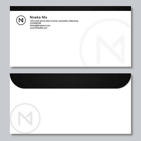 opulent fabric  Nneka Mo fashion design Business Cards letters Stationery