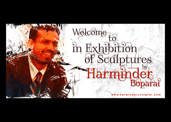 Invitation Card Of Exhibition By Harminder Boparai On Wacom