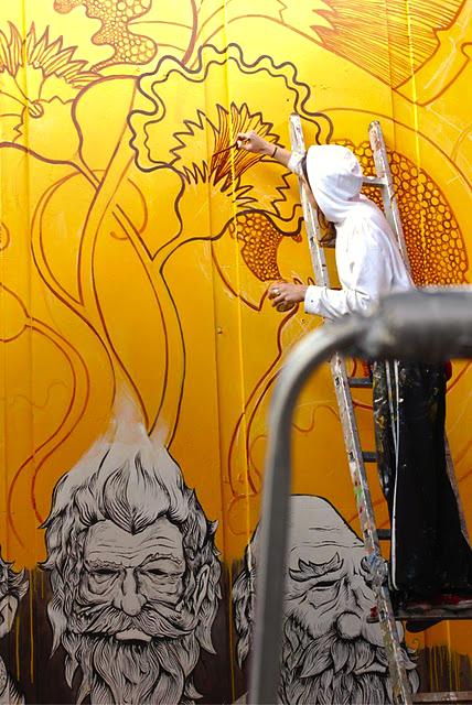 Mural wall theosone Gdansk