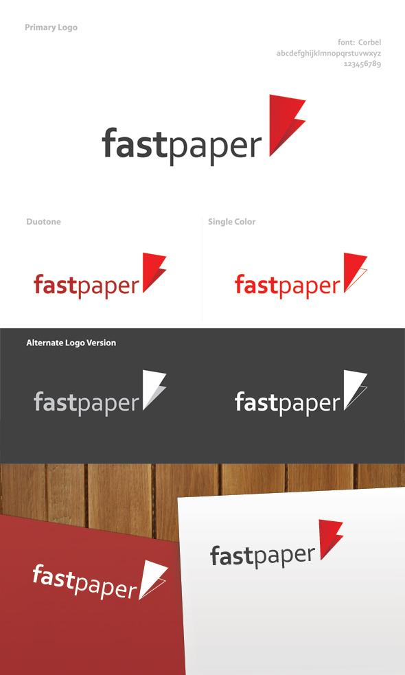 fast paper logo design on behance