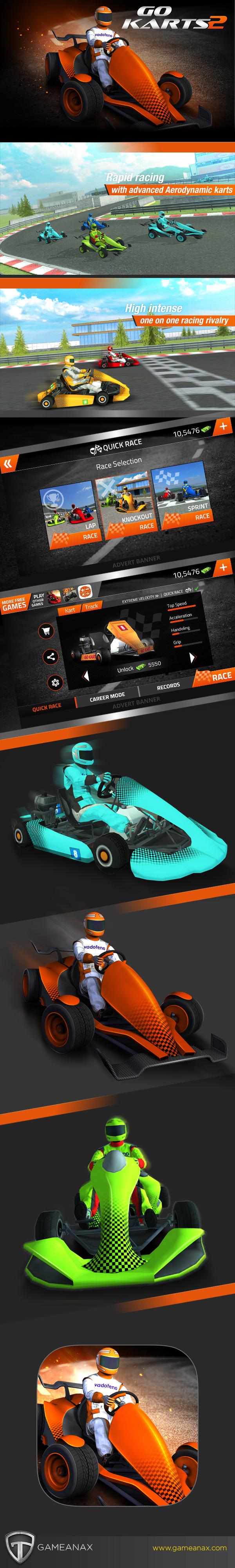 game UI ux mobilegaming ios android Racing race gokarts design