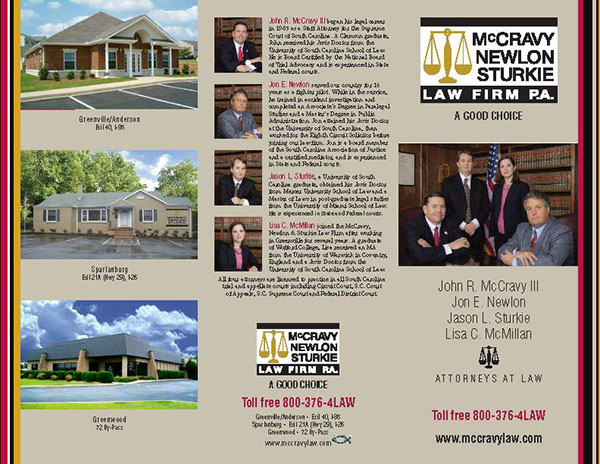 Mccravy Newlon Stukie Law Firm Tri-Fold Brochure On Behance