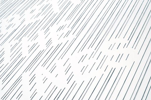 stitched poster black grey thread