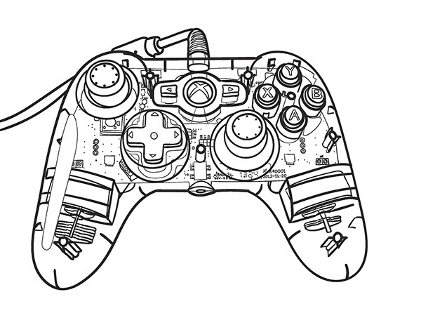 Drawing Lines Using Xbox One : Xbox controller blueprint on behance