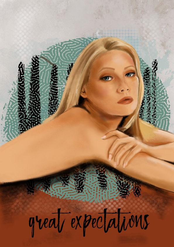 background Drawing  illustrasyon ILLUSTRATION  movie portrait poster Procreate sketchbook