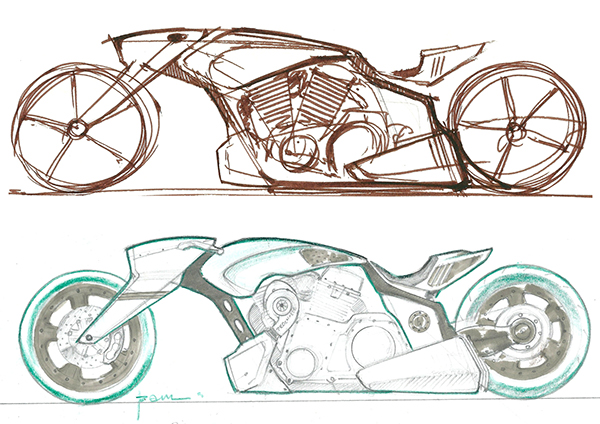 Custom Motorcycle chopper bobber cafe racer Motorcycle Caricature motorcycle design Motorcycle drawing motorcycle sketches