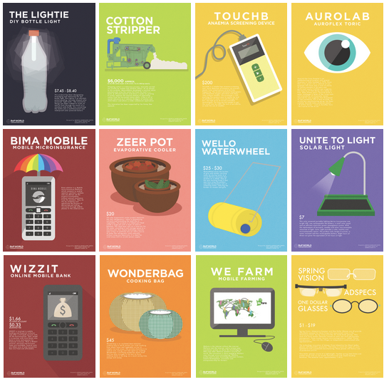 poster products colorful graphics Layout flat simple advertisement series BOP Technology