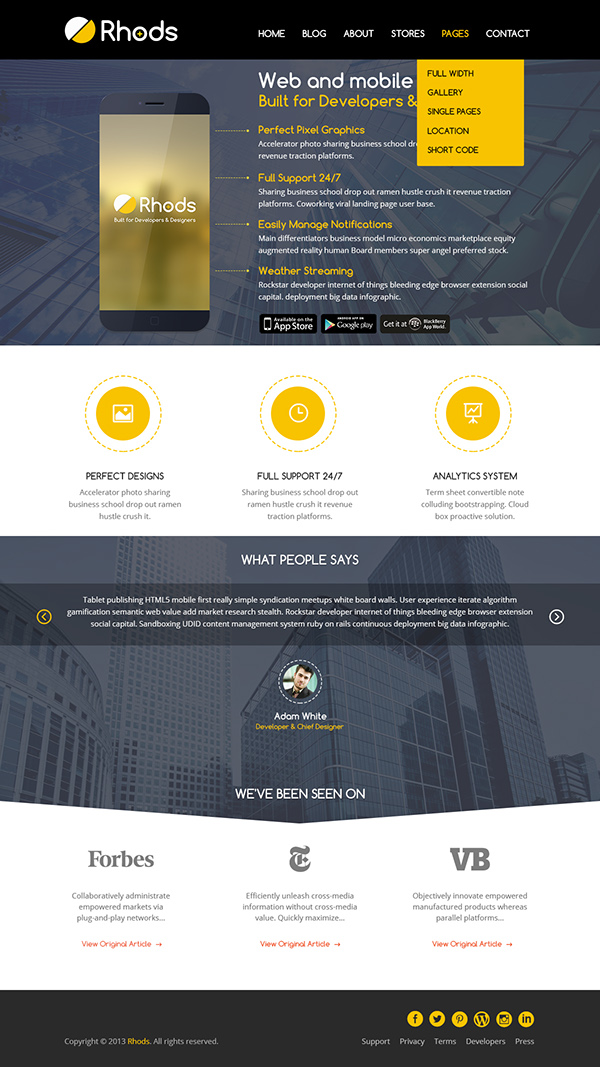 Mobile Apps Lauch - WordPress Themes