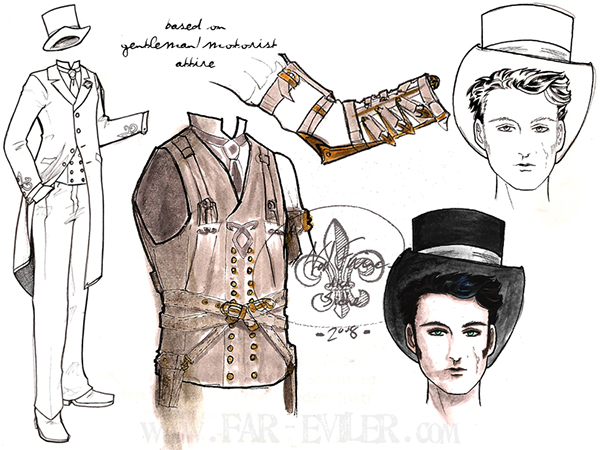 Costume Design Character Analysis : Character designs the infernal devices series on behance