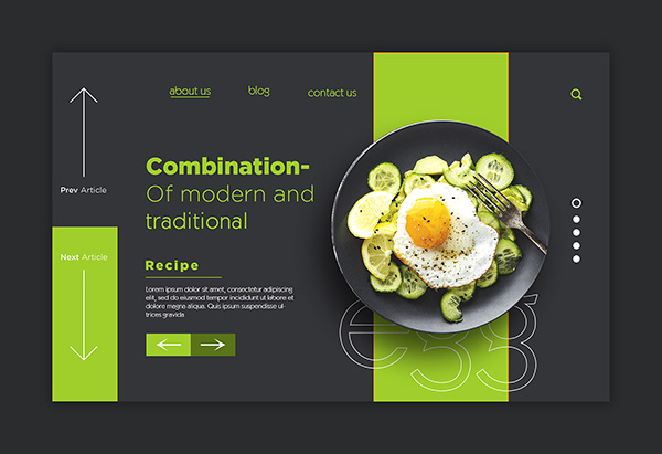 Restaurant Landing Page Design
