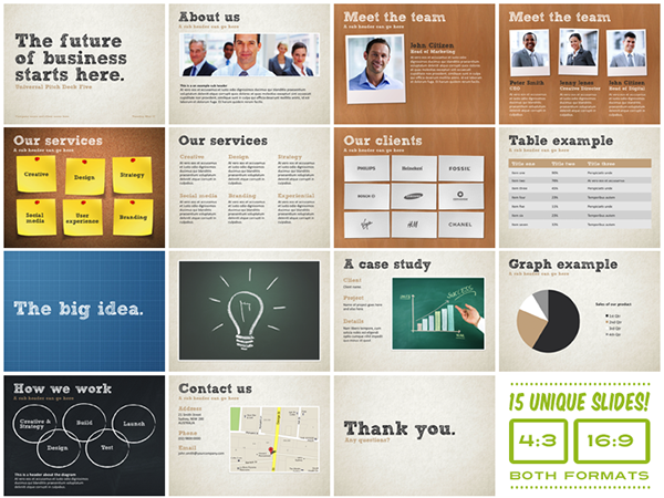 universal pitch deck five powerpoint template on behance, Presentation templates