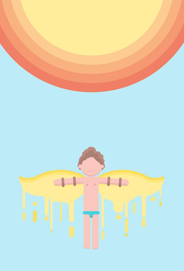Character melting point Sun mythology Fly SKY wax Icarus science Hot