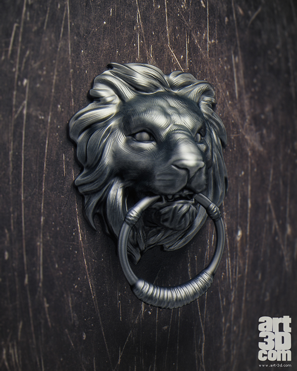 Lion Doorknocker - Sculpting Session and free 3d Model on Behance
