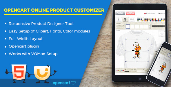 Online Product Customizer - Opencart Extension on Behance