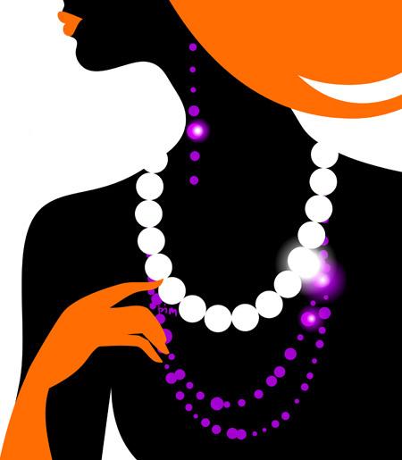 illustartion  fashion  Shopping  WOMAN  girl  vector  silhouette