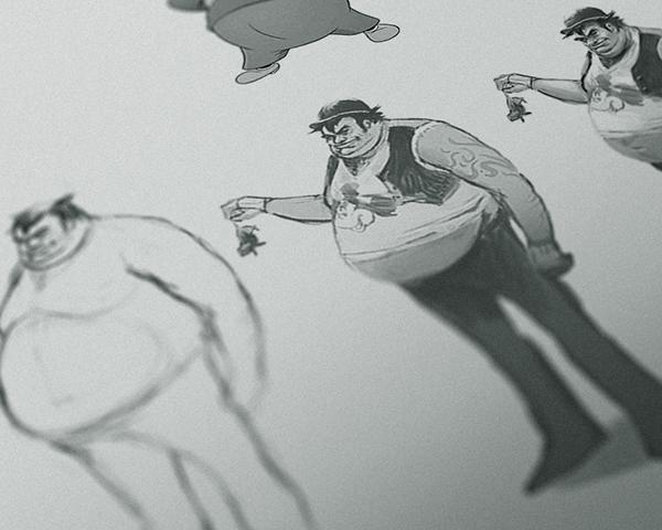disney Pegleg pete Character redesign