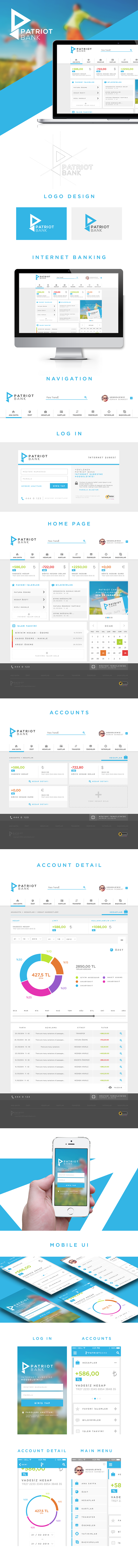 Online Banking UI Design (Personal Project) on Behance