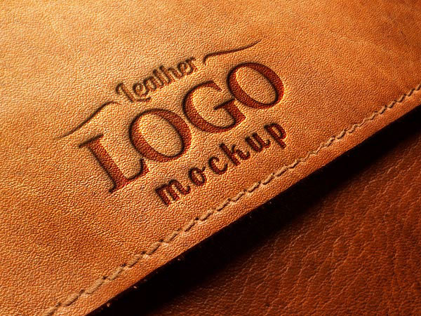 Embossed Leather Logo MockUp PSD on Behance