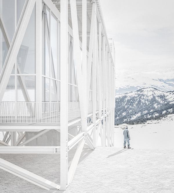 Laax steel eth diploma White snow rendering