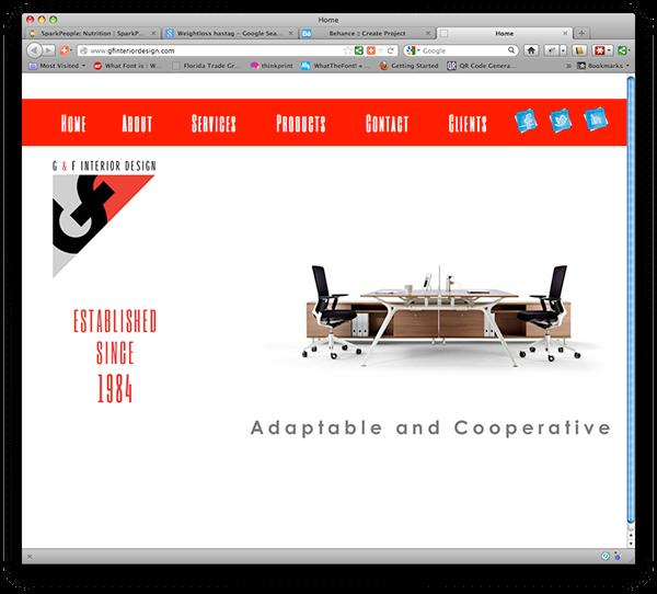 G f interior design website on behance