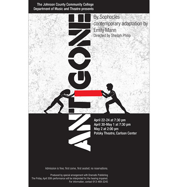 antigone theatre poster designs on behance