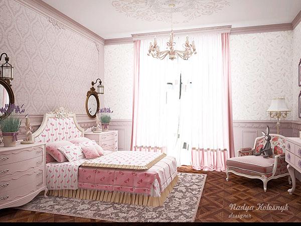 細緻的18款粉紅色房間欣賞