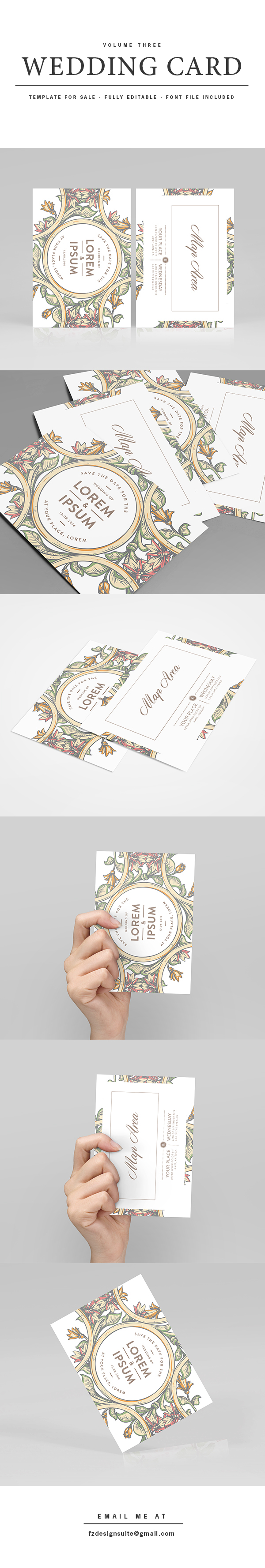 FOR SALE) Wedding Invitation Template - Volume 3 on Student Show