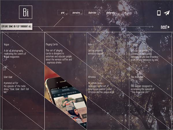 Interactive PDF Portfolio on Student Show