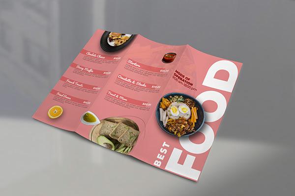 Food Brochure/Food Trifold Brochure/Food Menu