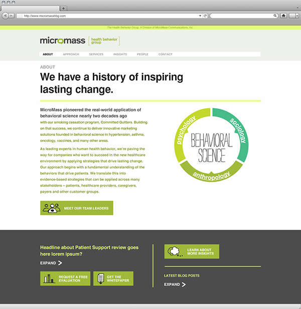 human Health Behavior Website infographic