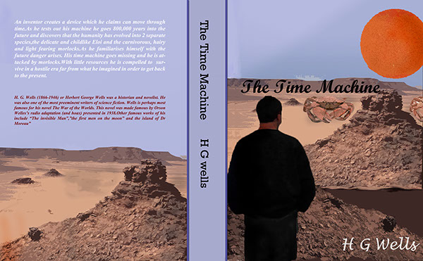 Book Cover Layout Bangalore ~ Book cover designs for the novel time machine on student show