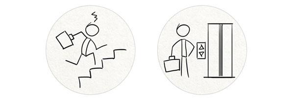 Recruiting infographic inbox recruiting The Resumator Platform story graphic building elevator stairs hiring